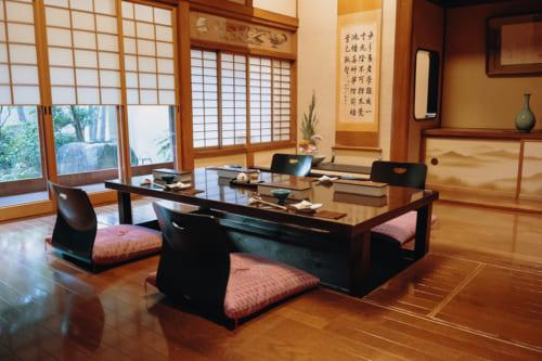 salle à manger du ryokan nishi-tei