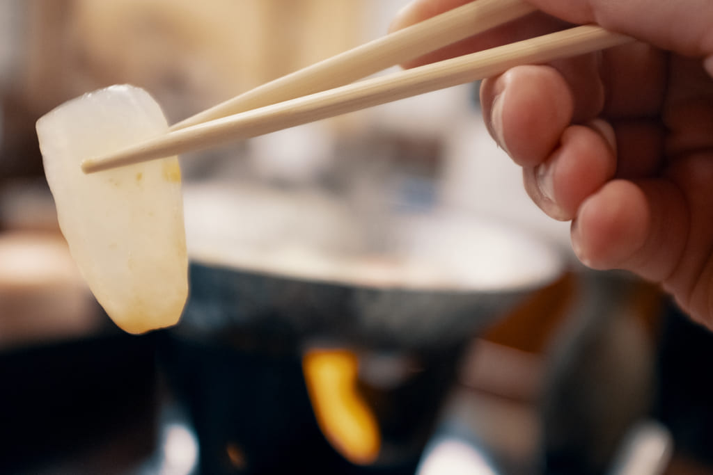 sashimi de konjaque au ryokan ikenoyamaso