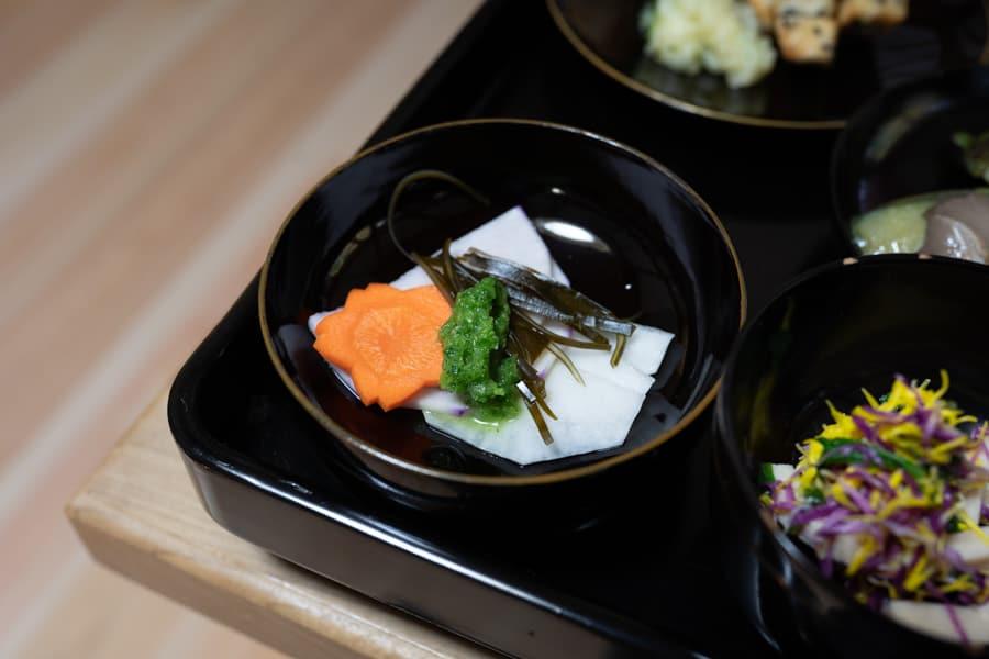 Tofu servi au temple Fusai-ji à Murakami