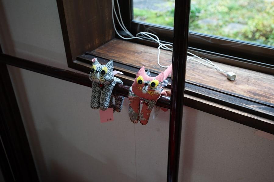 Figurines faites en tissus de kimono