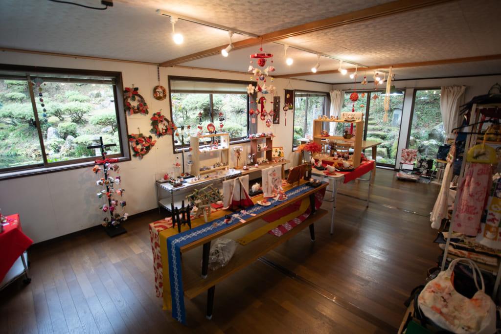 Stad d'artisanat au temple Fusai-ji à Murakami