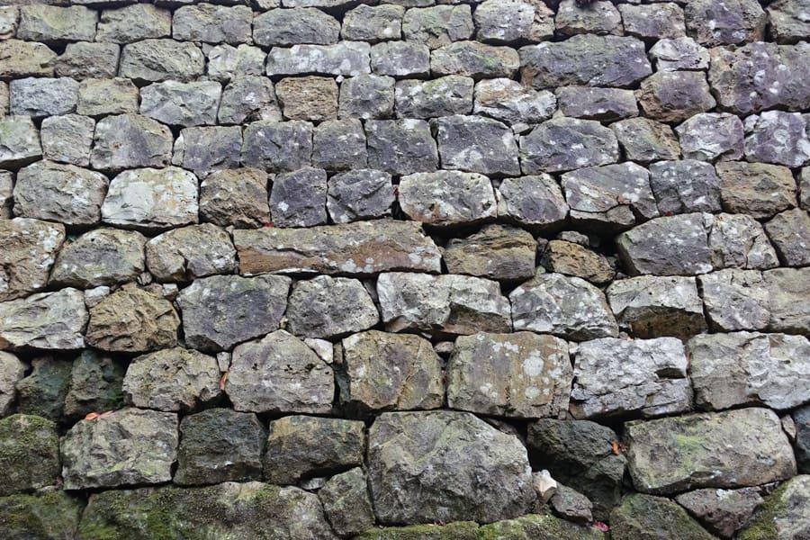 Mur de pierre du château de Murakami