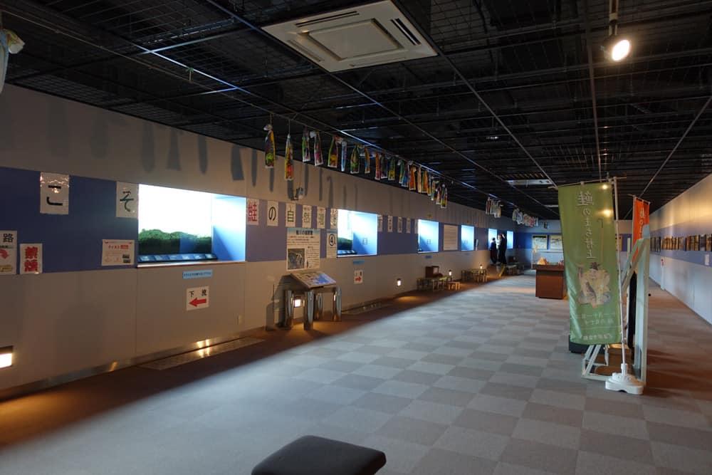 Intérieur du musée du saumon du Murakami
