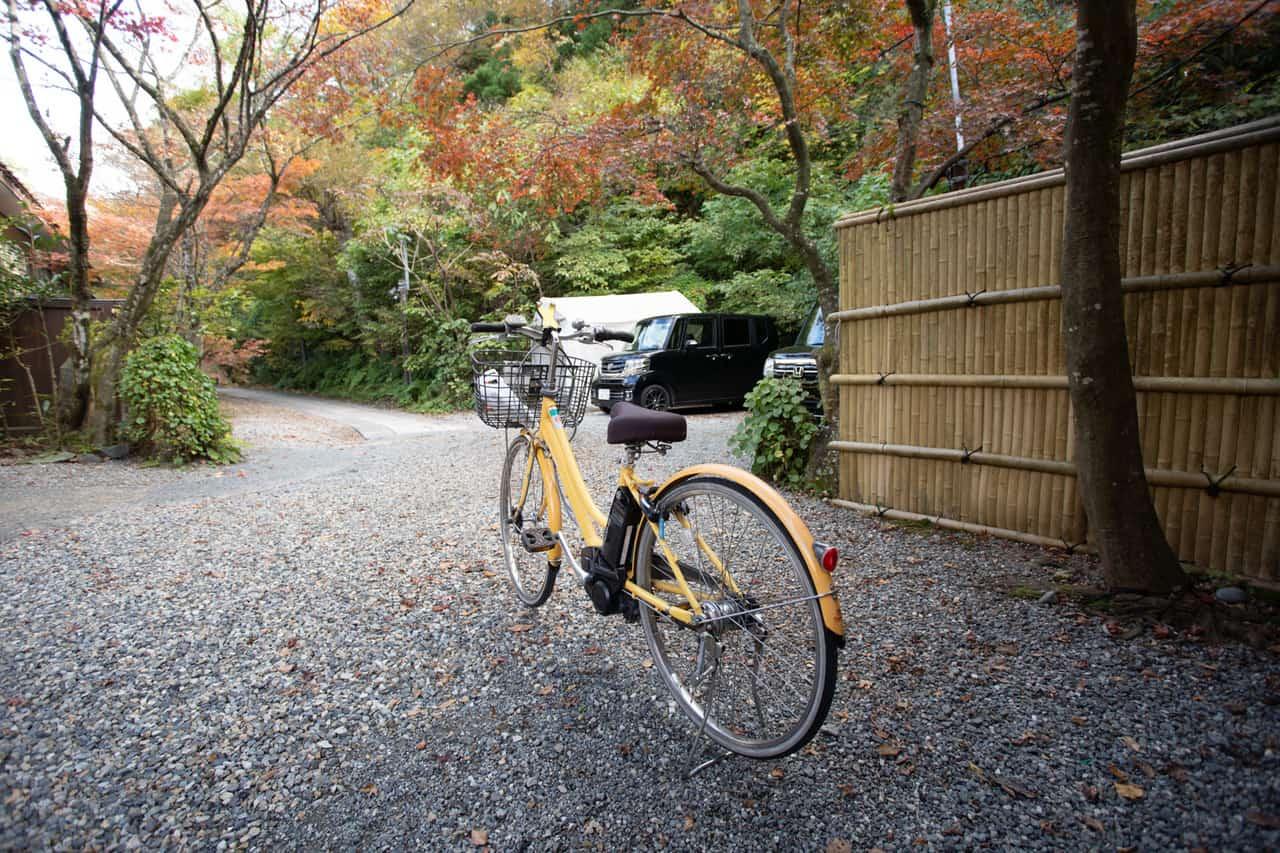 Balade à vélo dans les campagnes de Niigata teintées des couleurs de l'automne