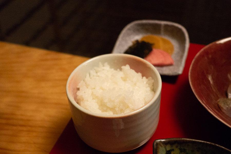Bol de riz récolté dans le village de Sekikawa