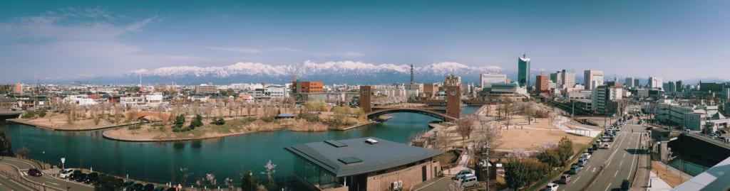 panorama de la ville de toyama