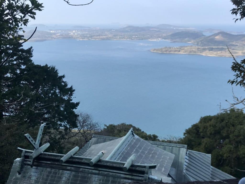 Sommet de l'île abandonnée Nozaki