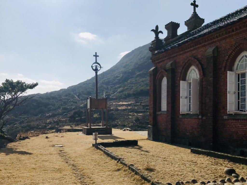 façade église nokubi sur l' île abandonnée de nozaki