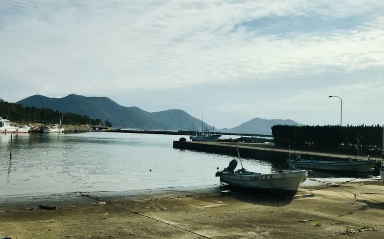 Le port de l'île ojika