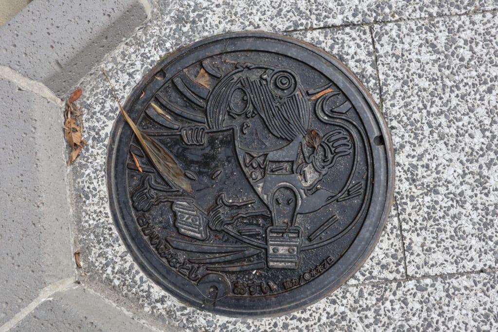 les yokai japonais sont même présents sur les bouches d'égout de sakaiminato