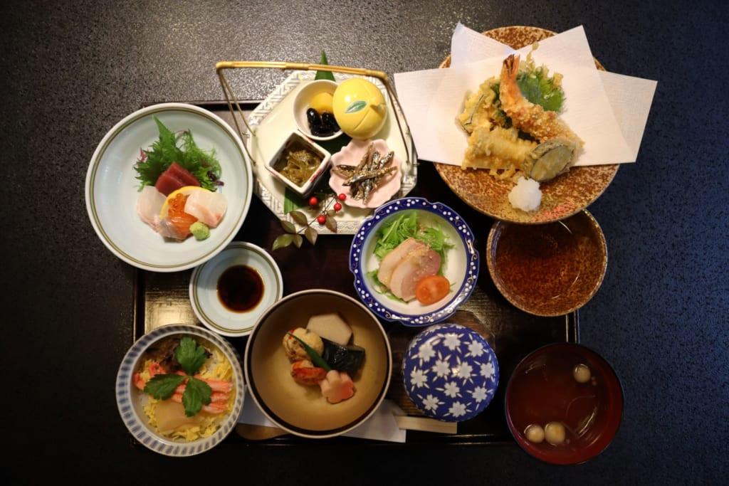 repas au restaurant Manyoshi