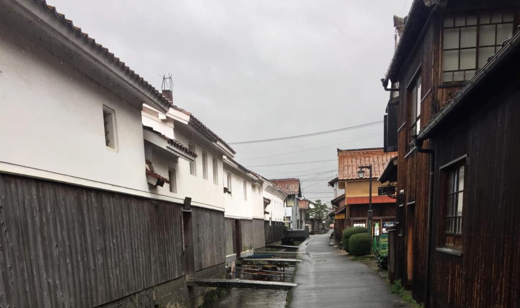 le vieux quartier de kurayoshi, dans la préfecture de tottori