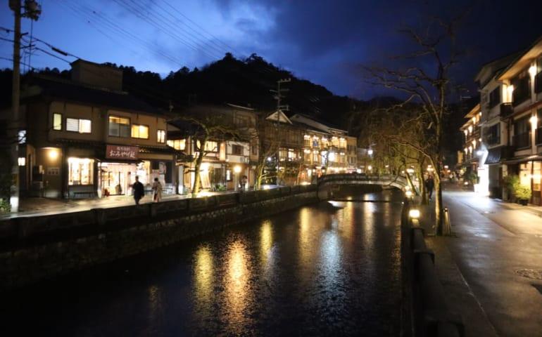 Kinosaki Onsen durant la nuit