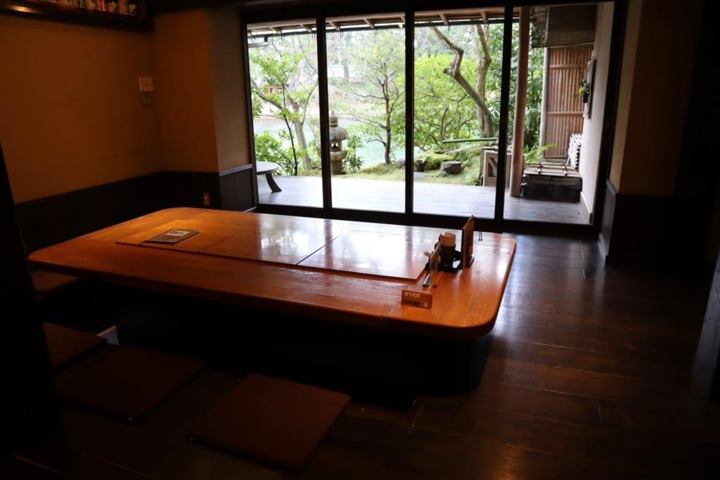L'intérieur de l'auberge taikyokuro Agura