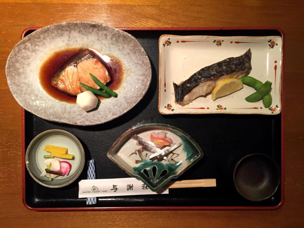 repas du ryokan à Ine