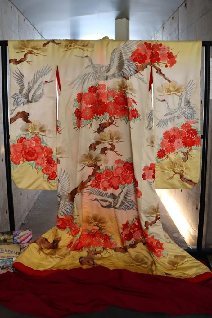 Kimono traditionnel au Tango chirimen museum