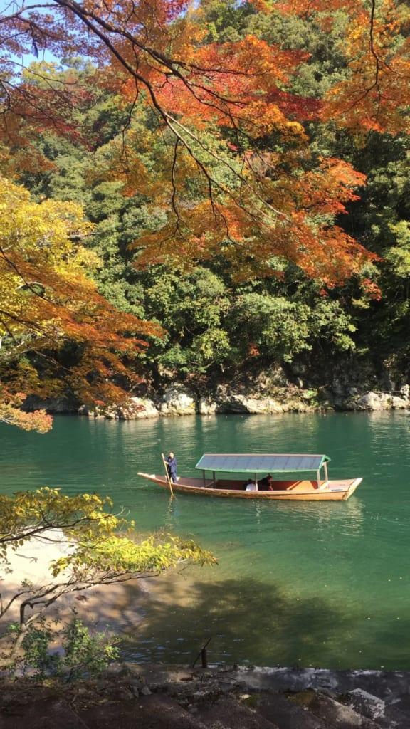 La rivière Hozu en automne