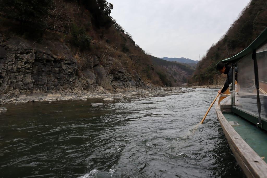 Descente de la rivière Hozu à bord d'une barque
