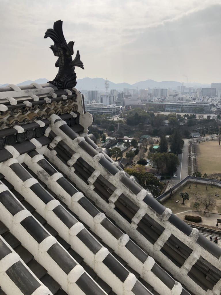 La ville vue depuis le château de Himeji
