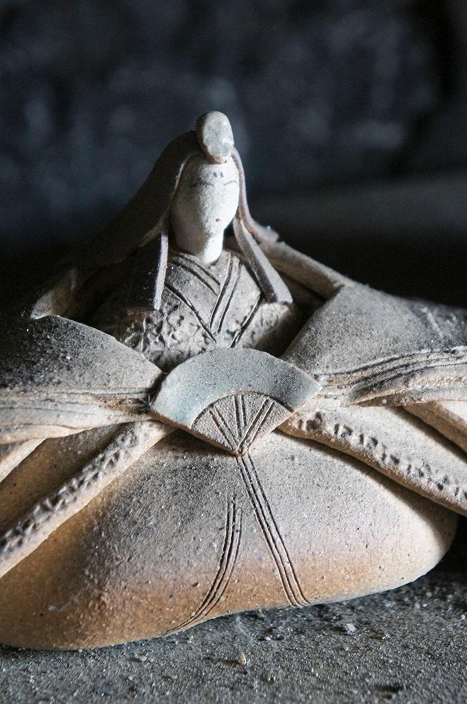 Poupée pour le hina matsuri en céramique