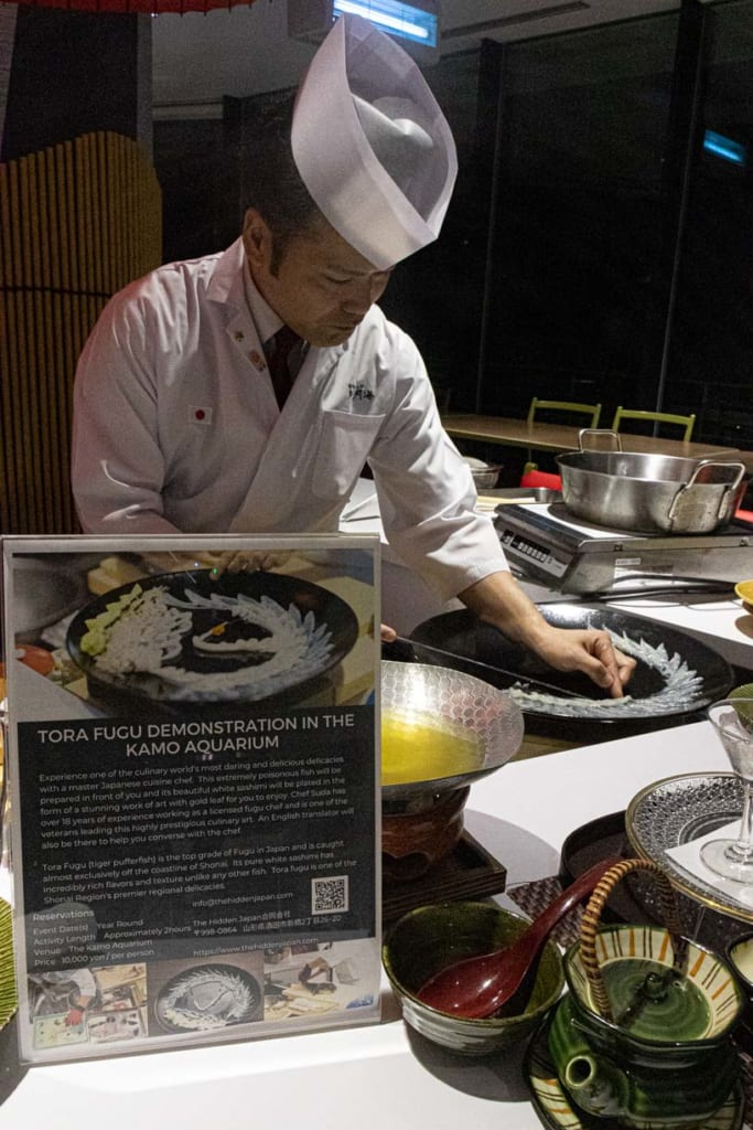 Le chef Suda au restaurant Okimizuki à Tsuruoka