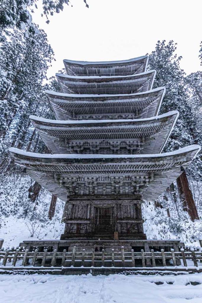 Pagode à 5 étages du mont Haguro