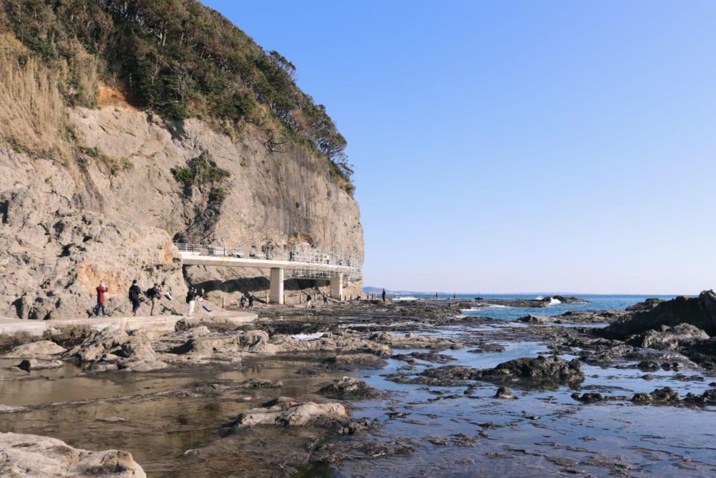 les rives rocheuses de chigogafuchi