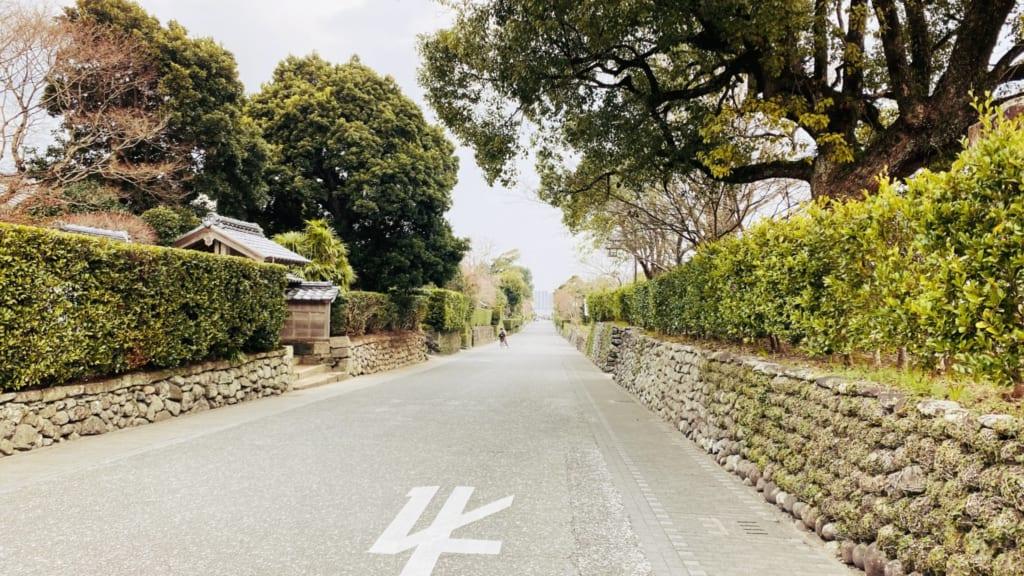 le quartier de samouraï d'izumi