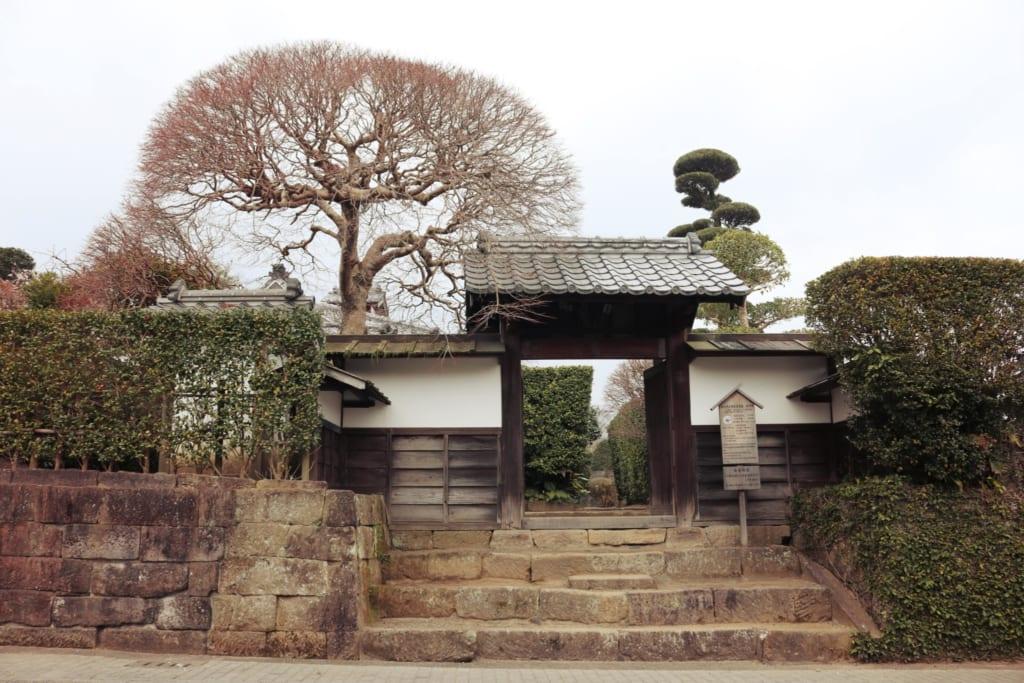 l'extérieur d'une résidence de samourai