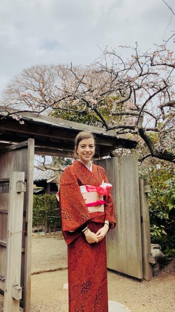 Le kimono que j'ai la chance de pouvoir garder