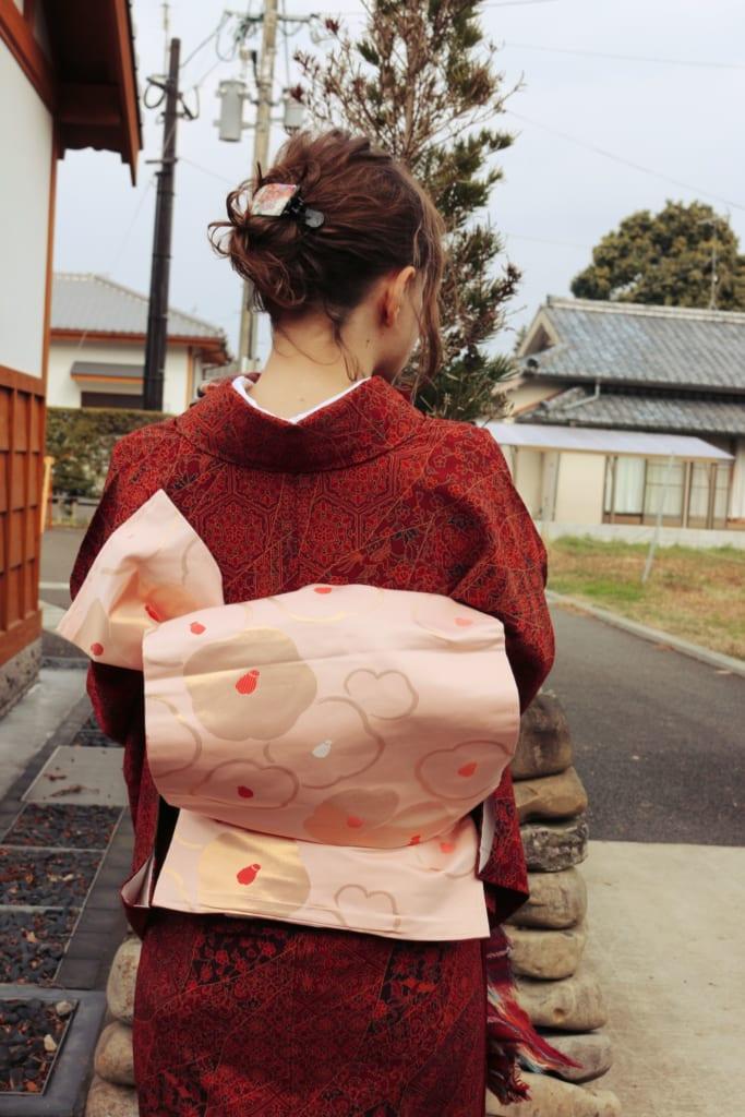 le magnifique noeud de ma ceinture de kimono