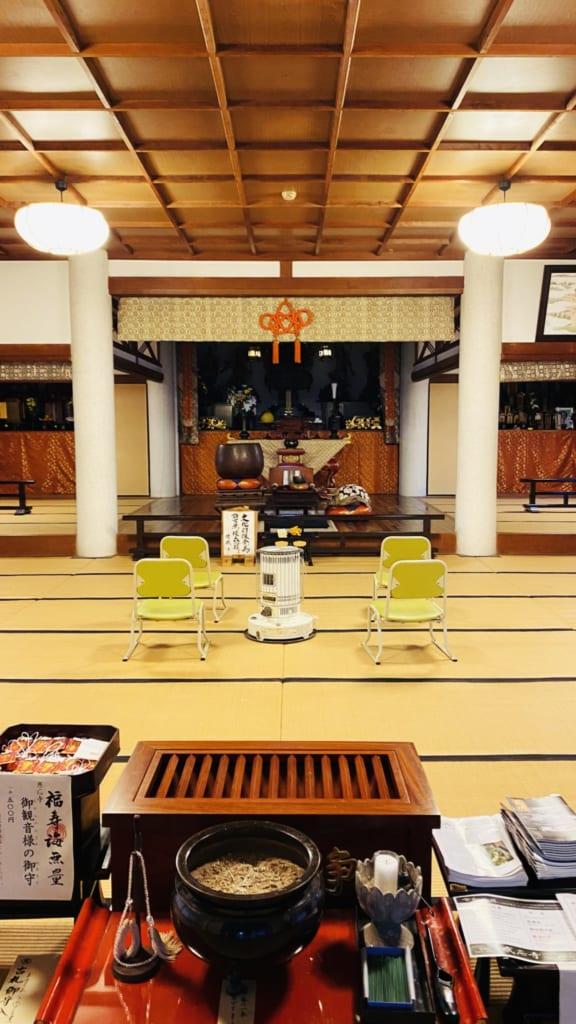 l'intérieur du temple kannonzenji