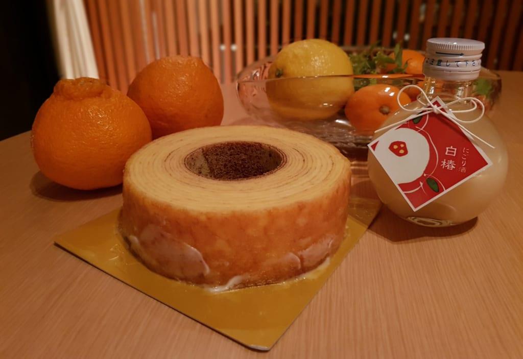 gâteau à la broche au saké