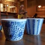 Céramiques et saké dans la ville de Tobe