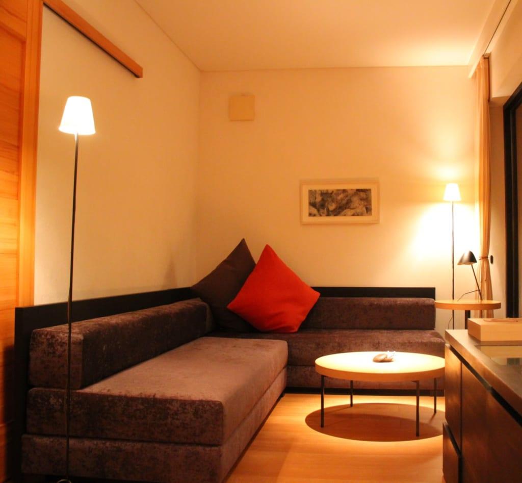 le salon de notre chambre