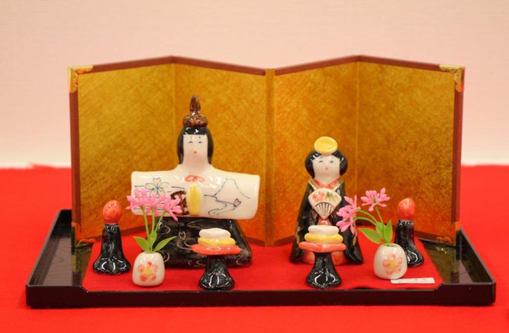 poupées japonaises en céramique de Tobe