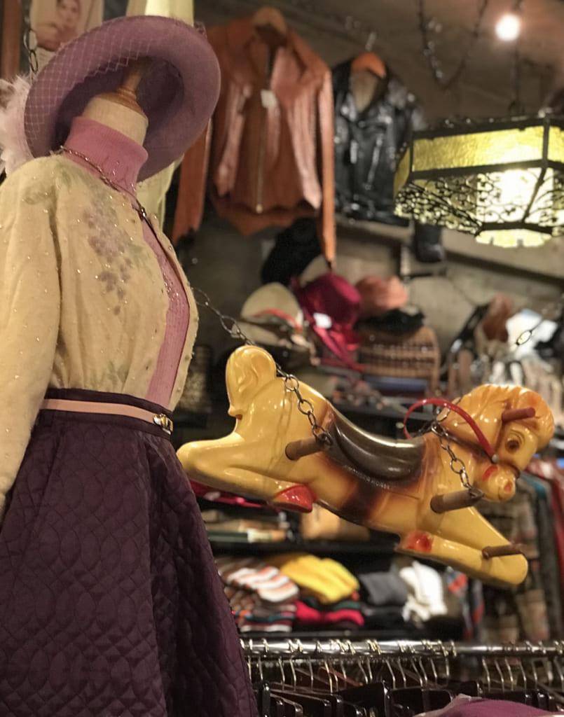 Vêtements de femme vintage à Koenji