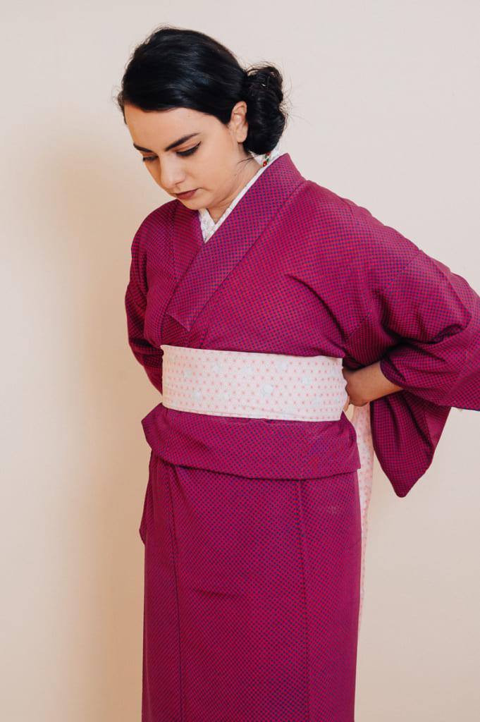 Seconde ceinture date-jime à attacher par-dessus le kimono