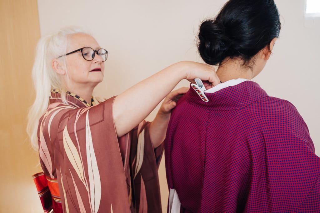 le col d'un kimono ne doit pas être trop serré