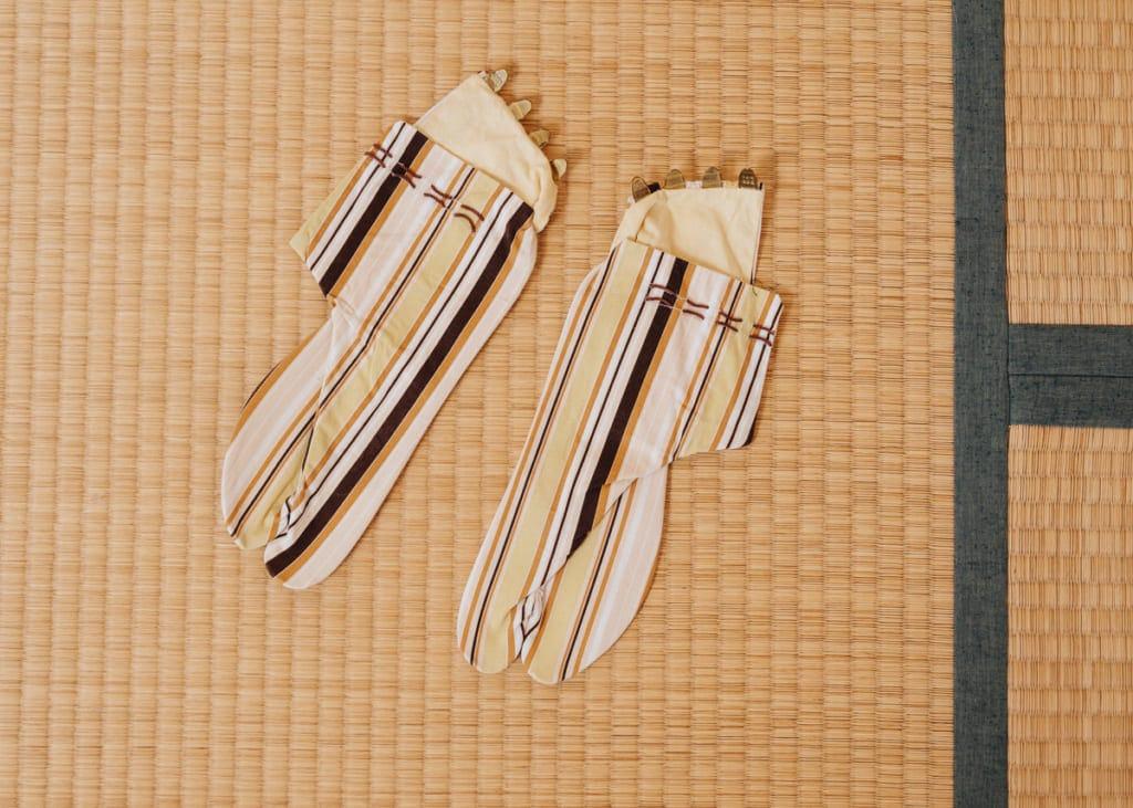 chaussettes traditionnelles japonaises tabi