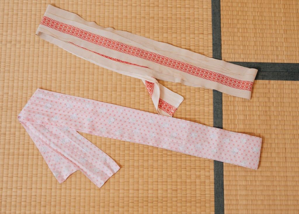 Deux ceintures date-jime pour kimono