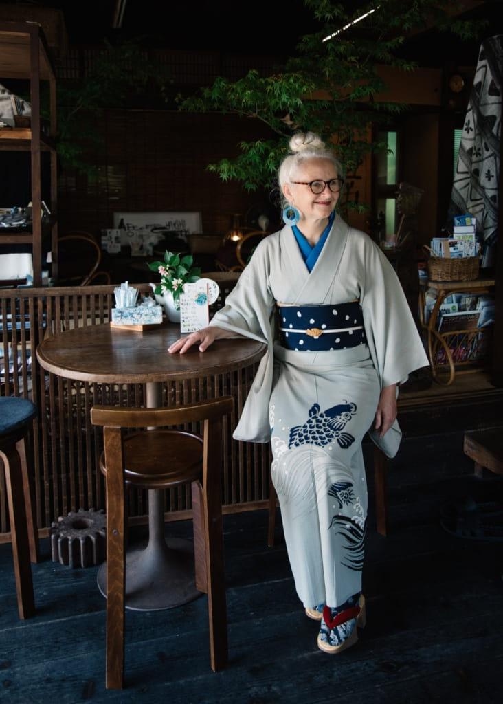 Sheila Cliffe, experte en kimono japonais