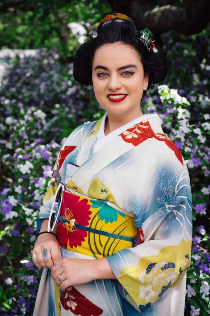 Nichole, modèle passionnée par les kimonos