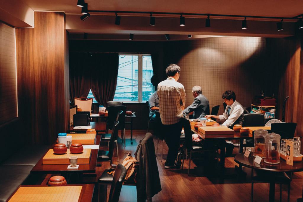 salon de go japonais à Tokyo dans le quartier d'Ueno