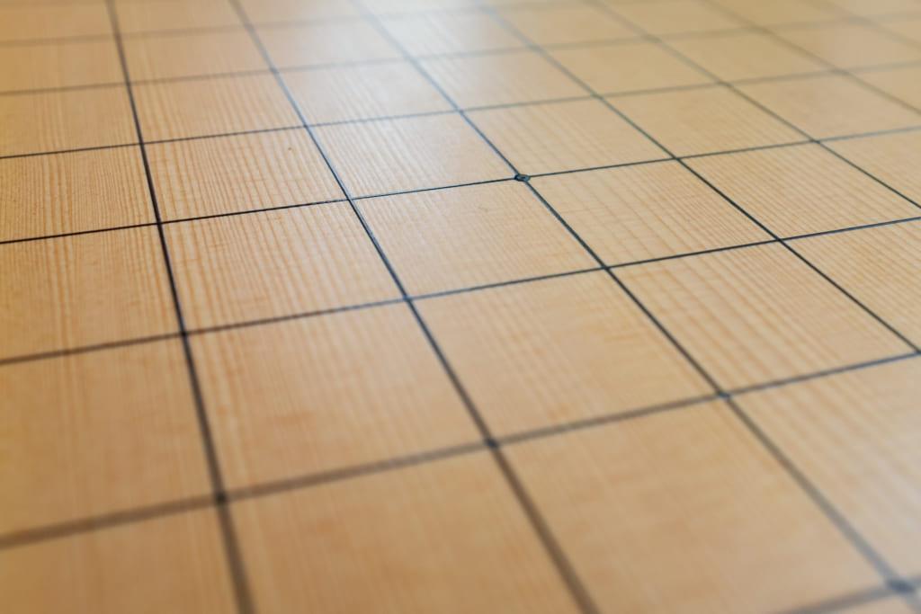 les lignes d'un goban, plateau du jeu de go