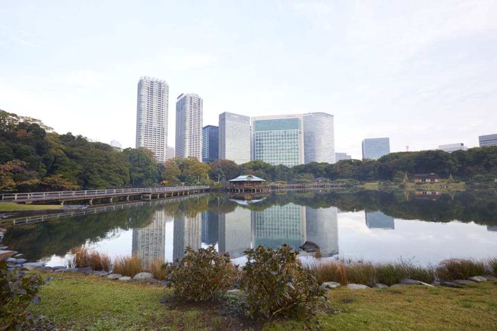 Hama Rikyu, jardin japonais à Tokyo