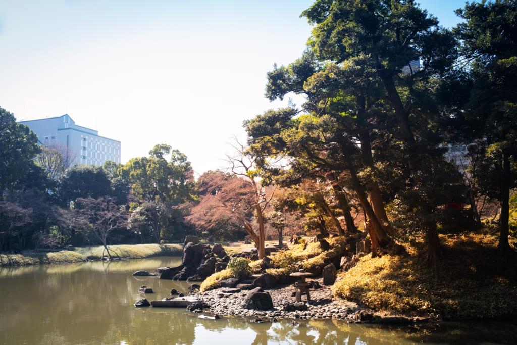 Un jardin japonais en plein centre ville de Tokyo