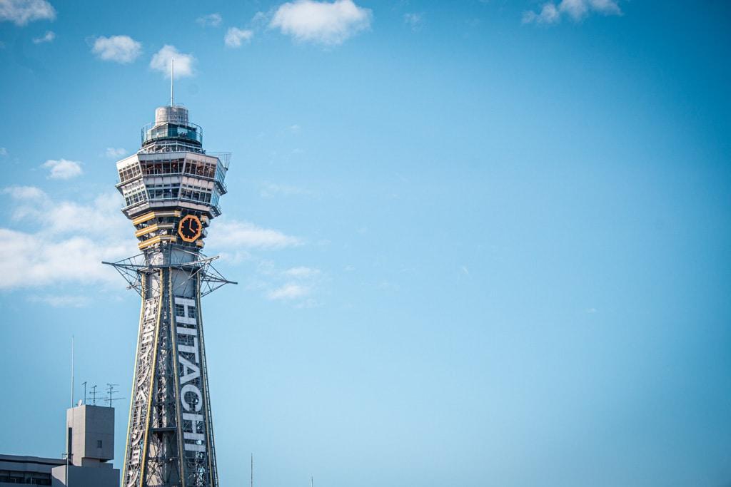 La tour tsutenkaku, symbole d'Osaka