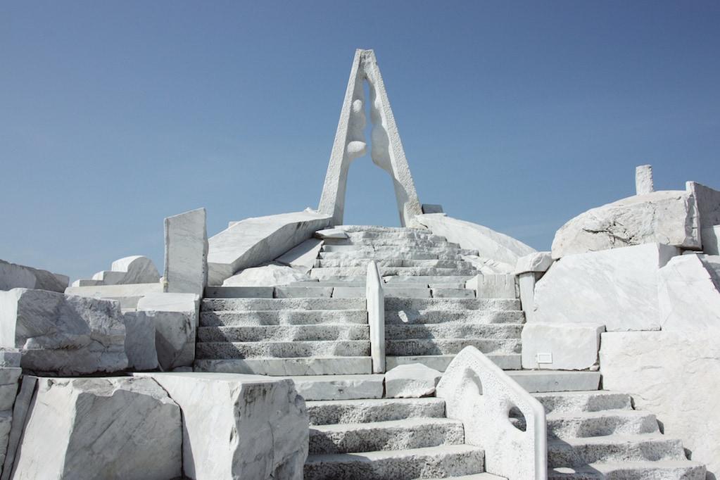 Point culminant du jardin de marbre du temple Kosanji