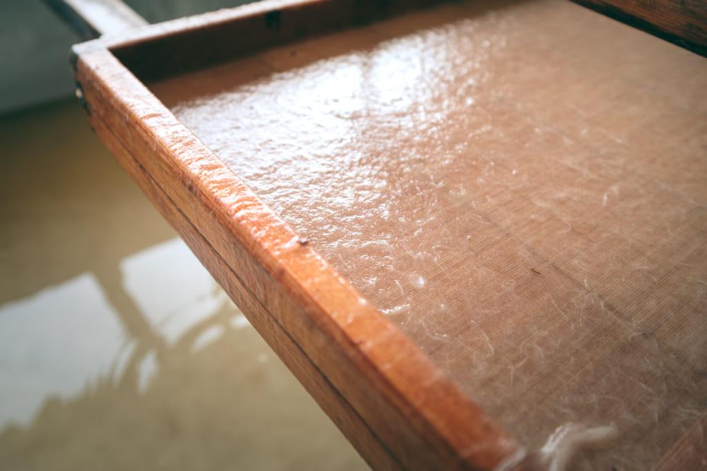 fabrication traditionnelle du papier japonais washi